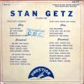 """Stan Getz Quartet, Stan Getz Tenor Sax Stars - Stan Getz Volume One (10"""" DG MONO)"""