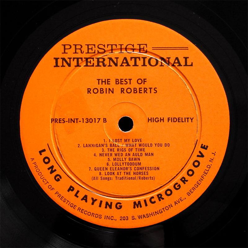 Robin Roberts Best Of Lp Prestige Int Pr Int 13017 Us